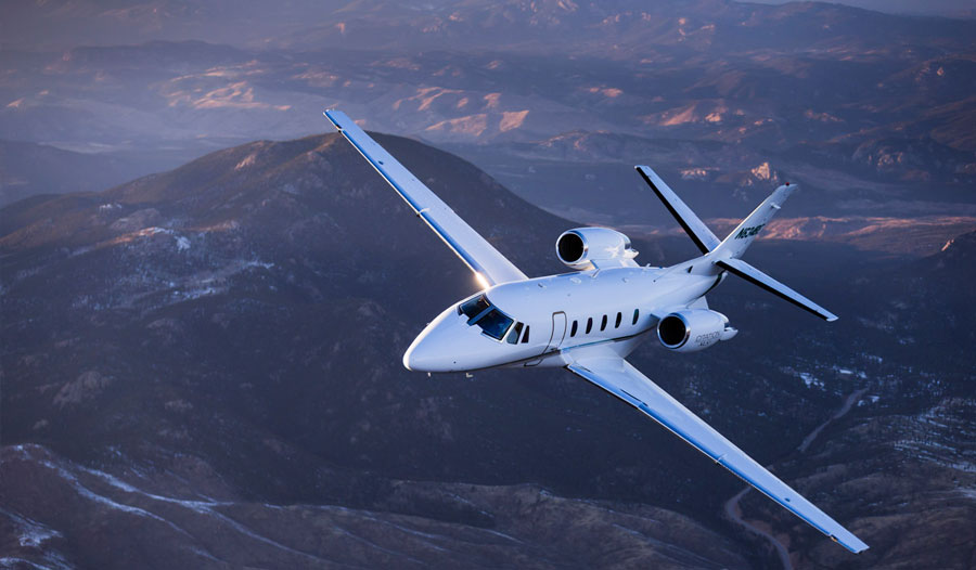 Cessna Citation XLS+ в небе